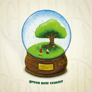green note coaster「tree」
